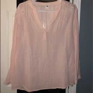 Old navy peach/pink light weight long sleeve top